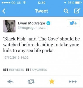 Tweet de Ewan McGregor tras ver el documental.