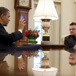 Bono y Obama. Foto: The White House.